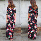 Women Ladies Boho Summer Beach Evening Party Cocktail Long Maxi Dress Sundress