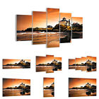 GLASS PRINTS 30 SHAPES Picture rocks sea sunset architecture  1179 UK