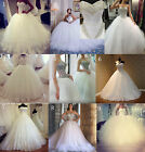 9 style New White/Ivory  Gown/Duchess Wedding Dress Bridal Gown Custom size 4-26