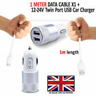 VODAFONE SMART ULTRA 7 - In Car Fast Dual Charger PLUS Micro USB Charging Cable
