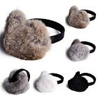 2017 Luxury Warm Real Rex Farms Rabbit Fur Earmuffs Ear Muffs Fur Charms Winter