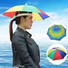 Outdoor Foldable Sun Umbrella Hat Golf Fishing Camping Headwear Cap Head Hat New