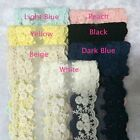 Внешний вид - 5 inch wide  flower embroidery lace trim select color price for 1 yard
