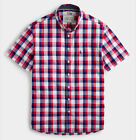 Joules Mens Wilson Classic Fit Gingham Shirt Deep Raspberry Various Sizes