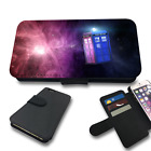 GALAXY TARDIS DOCTOR WHO FLIP PHONE COVER WALLET CASE