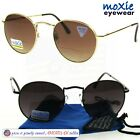 BIFOCAL ROUND SUNGLASSES SPRING HINGES 60'S METAL Quality moXie 1.50~2.50 w/CASE