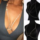 Fashion Alloy Silver/Gold Plated Diamond Bra Body Jewelry Waist Crossover Chain