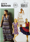BUTTERICK PATTERN DRESS VERY LOOSE FIT 4 DESIGNS EASY SIZE 14-22 # B5878