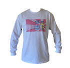 T SHIRT LONG SLEEVE MR SPARKLE THE SIMPSONS MENS WHITE ALL SIZES S TO 3XL
