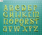 EMBROIDERED ALPHABET LETTERS IRON-ON COSTUME CRAFT APPLIQUE BADGE 2.5cm GREEN