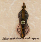 Made-in-the-USA Sterling Silver Mountain Dulcimer Pin by Jackie Magyar
