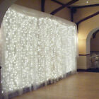 "120"" x 108"" 9ft VOILE CHIFFON SHEER DRAPE PANEL BACKDROP WHITE CURTAIN WEDDING"