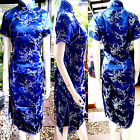 Asia Miss China/Japan Qipao/Geisha-Kleid/Kostüm Cheongsam Blau Gr.34,36,38,40,42