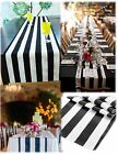 "STRIPE SATIN TABLE RUNNER 12""X108"" STRIPED PRINT WEDDING PARTY Made in USA"