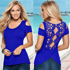 Brand New Summer Womens Letters Print Short Sleeve T-Shirt Ladies Tops Blouse
