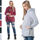 Happy Mama.Women's Maternity Hoodie Carrier Baby Holder Adjustable Zippers. 495p
