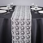 """Silver Chemical Lace Sequin Table Runner 14"""" x 108"""" Made in USA Wedding Party"""