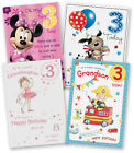 Age 3 3rd Third Happy Birthday Card Granddaughter Grandson Son Daughter Mouse