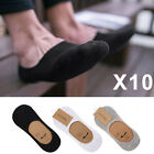 10 Pairs Mens Invisible Trainer Liner Socks No Show Secret Boat Ankle Footsies