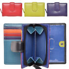 Ladies Premium Grade Soft Leather Dual Opening Purse in Multi Colour - RFID Safe