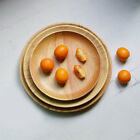 Wooden Round Circle Food Serving Plate Pallet Home Kitchen Snacks Container