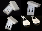 Three Different Inlay Drop Earrings in 100% Solid 925 Sterling Silver - 3.5 gram