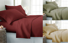 SOLID PREMIUM DRESSING  BED SHEET SET FLAT FITTED DEEP POCKET PILLOW CASES  image