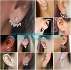1 Pair Fashion Women Elegant Crystal Rhinestone Ear Stud Earrings Charm Jewelry