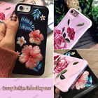 For Apple iPhone 7 6S Plus & 6 Cover Shockproof 3D Embroidered Roses Flower Case