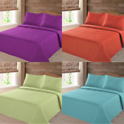 MODREN NENA SOLID CLOSOUT QUILT BEDDING BEDSPREAD COVERLET PILLOW CASES SET image