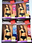 NEW 6 Pairs Hanes Briefs Satin Stretch No Panty Line Wedgie free Size 9 CHOOSE