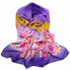 New Women's Long Fashion Soft Silk Chiffon Shawl Wrap Wraps Scarf Scarves