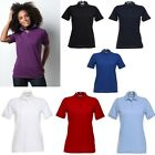 WOMENS POLO T SHIRT WHITE BLUE BLACK RED PURPLE 10 to 22 S to XXXXL CASUAL TOP