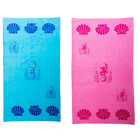 Large Beach Towel Swimming Towel Summer Blue Pink Extra Cute Seahorse Pool Kids