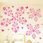 10Color 108 Flowers&7 Butterfly Wall Sticker Decal DIY Removable Home Decor Gift