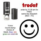 Smiley Face Loyalty Card Stamp Self Inking rubber cafe pub school shop