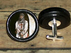 KNIGHTS TEMPLAR Altered Art CUFF LINK or HAIR PIN pair Set