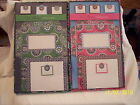 VERA BRADLEY CREATE-A-CARD SET-SEALED PKG-CUPCAKE PINK OR GREEN-FREE US SHIPPING