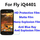 3pcs For Fly iQ4401 High Clear/Matte/Nano Explosion/Anti Blue Ray Screen Film
