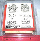 Birthday Friends Word Rubber Stamp Sets Family Thanks Baby by Stampin Up UPick