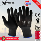 NEW Xtreme Black Safety Gloves Nitrile Mechanical Sandy Work Gloves 12 Pairs