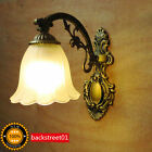 Retro Vintage Iron Industrial Wall Lamp LED Bulbs Sconce Bedroom Bedside Lights