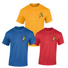 Uniform T Shirt costume fan Captain Kirk Spock Enterprise Starfleet Star Trek on eBay