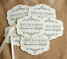 Hang Tags LOVE GIVES US A FAIRYTALE WEDDING FAVOR or WISH TAGS #166  Gift Tags