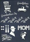 LOTS 4 - 18 PCS. MOTHER FATHERS DIE CUTS* MOTHER FATHER DAY GRANDPARENT  READ