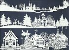 LOTS 6-18 PCS. SUB-SETS CHRISTMAS VILLAGE DIE CUTS HOUSE SKATE TREES TOWN  READ