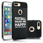 For iPhone X SE 5s 6 6s 7 8 Plus Shockproof Hard Case Football Makes Me Happy