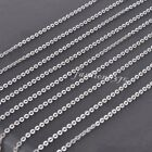 100pcs Wholesale Silver Stainless Steel Rolo Link Chain Necklace Lots 1.5-3.0mm