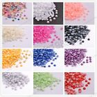 Half Pearl Round Bead Flat Back 2MM - 8MM Scrapbook for Craft FlatBack