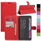Magnetic Leather PU Card Pocket Slots Stand Protector Case Cover For Sony Xperia